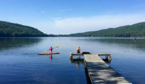 Lake Morey paddleboarding